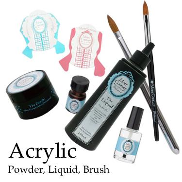 Acrylic Powder, Liquid, Brush
